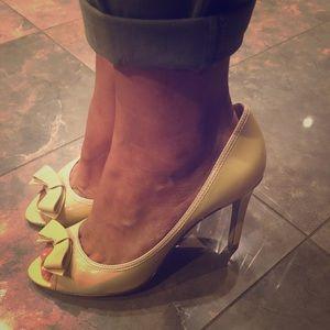 Classic peep toe heels